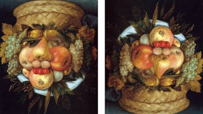 Image: Reversible Head with Basket of Fruit by Giuseppe Arcimboldo