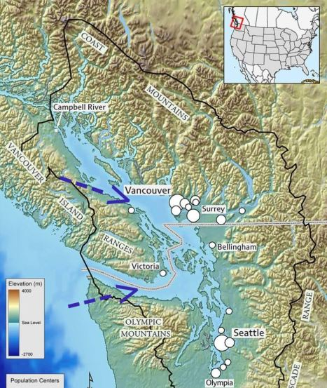 Image: Map of Salish Sea