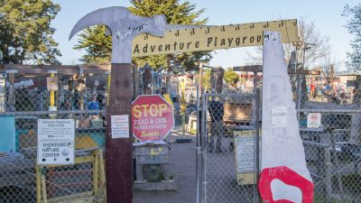 Image: entrance to the Berkeley, California Adventure Playground!