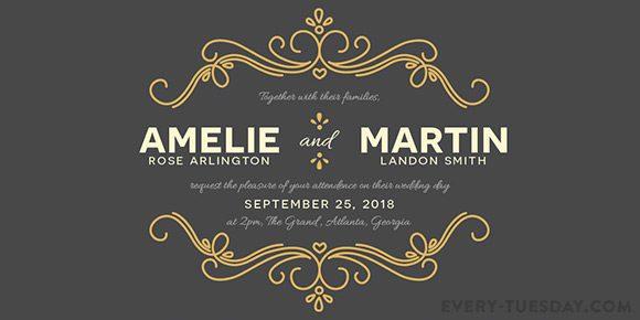 Create A Wedding Invitation In Ilrator