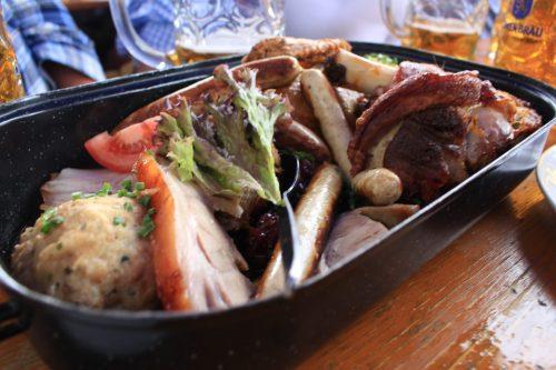 oktoberfest meat plate feast 500x333 - Oktoberfest 2014 Opening Day, Munich, Germany: Day 5