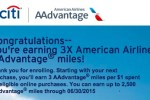 citi aadvantage online bonus - Targeted: 3x miles on the Citi AAdvantage Platinum Select Visa
