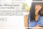 hyatt bonus points mobile booking app - Earn 500 Hyatt Gold Passport points for a mobile booking