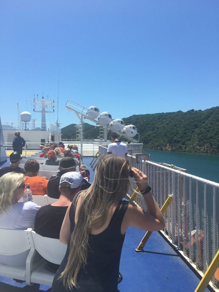 interislander ferry top deck 700x933 - Nelson to Wellington, New Zealand by bus and ferry via Picton