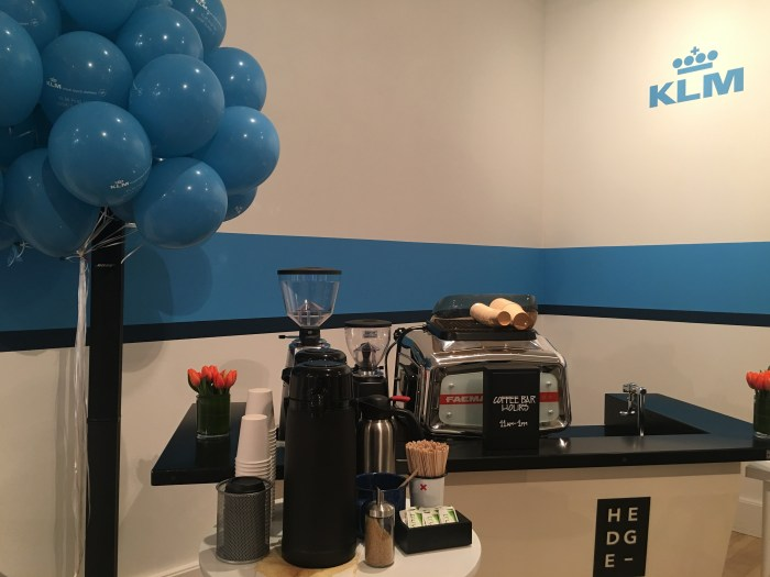 klm popup coffee bar 700x525 - A visit to the KLM pop-up in San Francisco