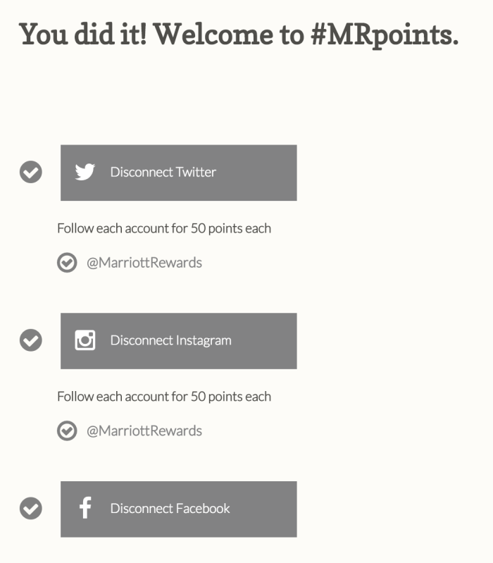 free marriott points 30 days members get it 700x799 - Get 1,500 free Marriott Rewards points for connecting your social profiles