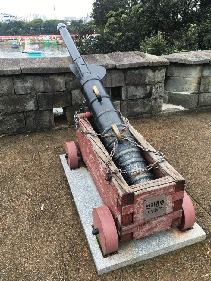 jinjuseong cannon 700x933 - A visit to Jinjuseong Fortress in Jinju, South Korea