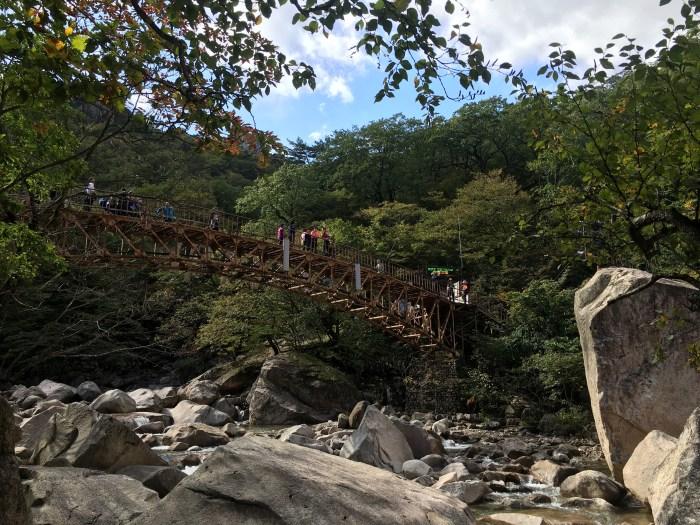 biseondae bridge seoraksan 700x525 - Hiking in Seoraksan National Park - Biseondae