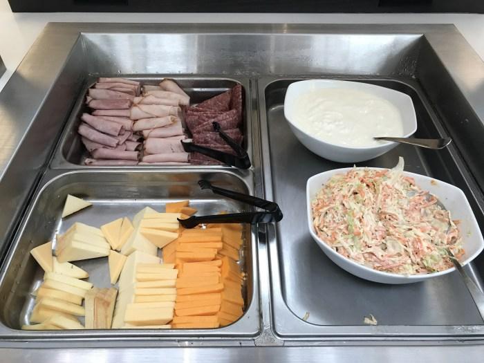aspire lounge transborder departures calgary airport yyc meat cheese 700x525 - Aspire Lounge Transborder Departures Calgary Airport YYC review