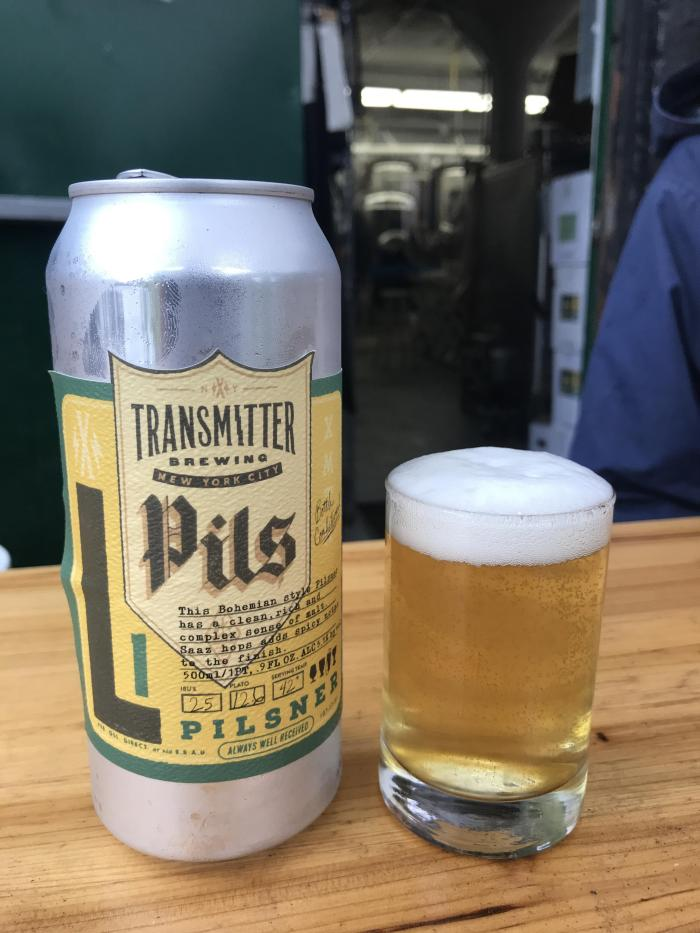 craft beer long island city transmitter brewing pils 700x933 - I won a travel contest & attended the U.S. Open Final