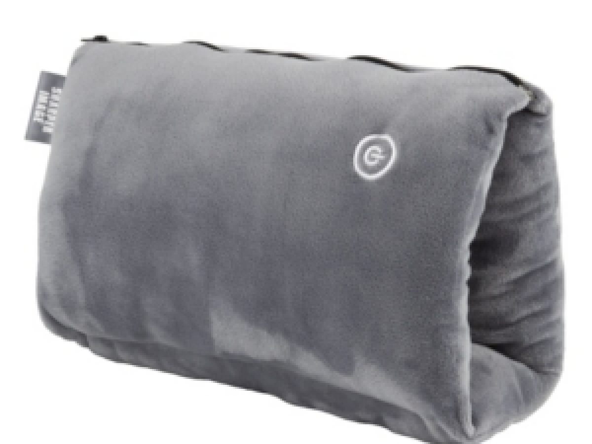 sharper image cozy touch vibrating travel pillow