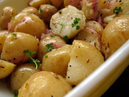 cumin scented potato salad