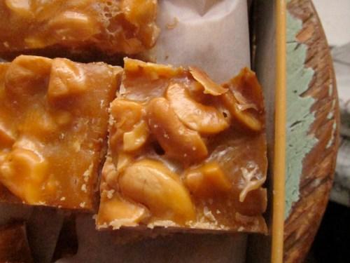 butterscotch cashew squares