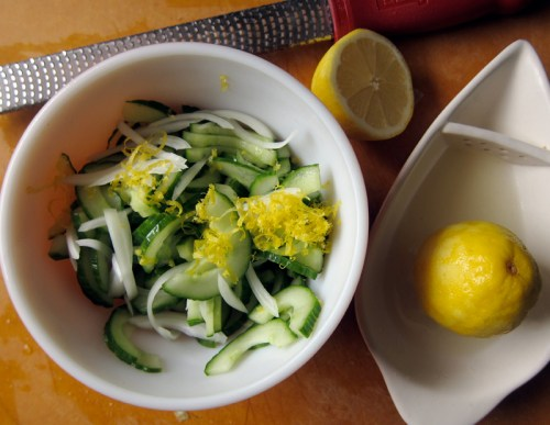 lemon, onion & cucumber salad