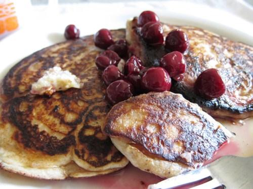 pancakes & cherries