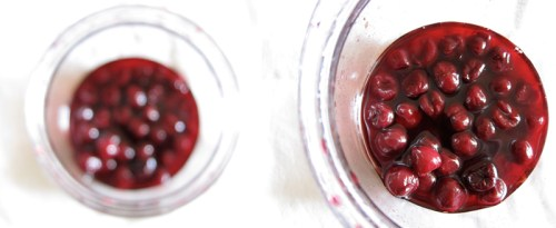 macerated sour cherries