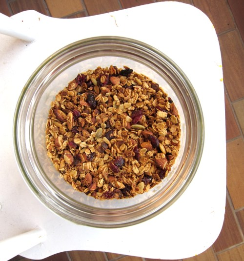 big batch of olive oil granola
