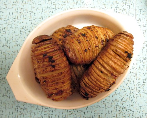 hassleback / accordion potatoes