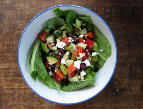 chopped mediterranean salad | everybody likes sandwiches