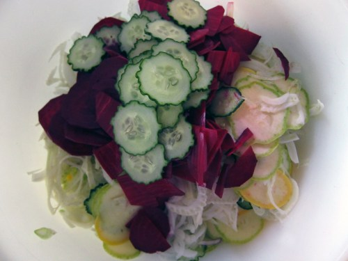 shaved summer vegetable salad   everybody likes sandwiches