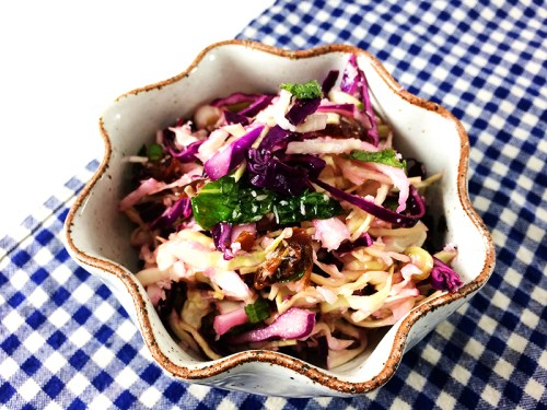 sweet and sour slaw with coconut, mint and dates | everybody likes sandwiches