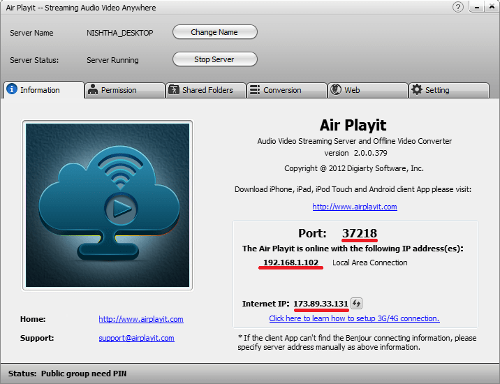 Air Playit  Setup Guide (4/6)