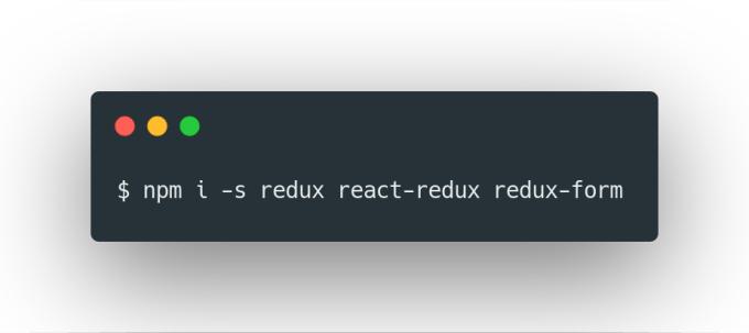 redux form react native