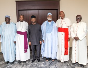 Abdulsalami Peace Committee in meeting with Osinbajo as ministers sworn in