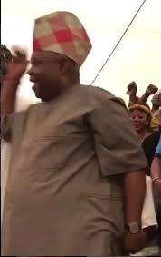 Nigeria's dancing Senator, Adeleke, does it, again