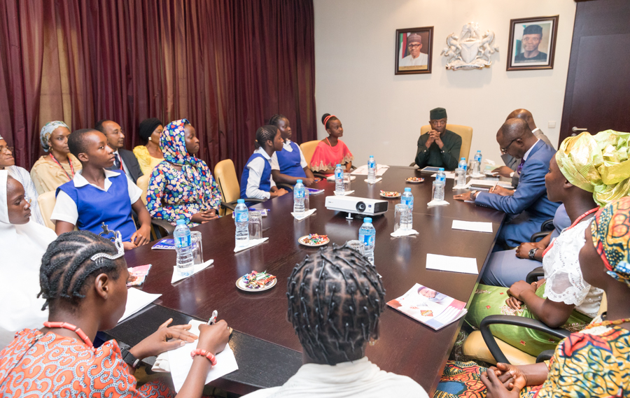 In intelligence and capacity, no difference between boy and girl-child, says Osinbajo