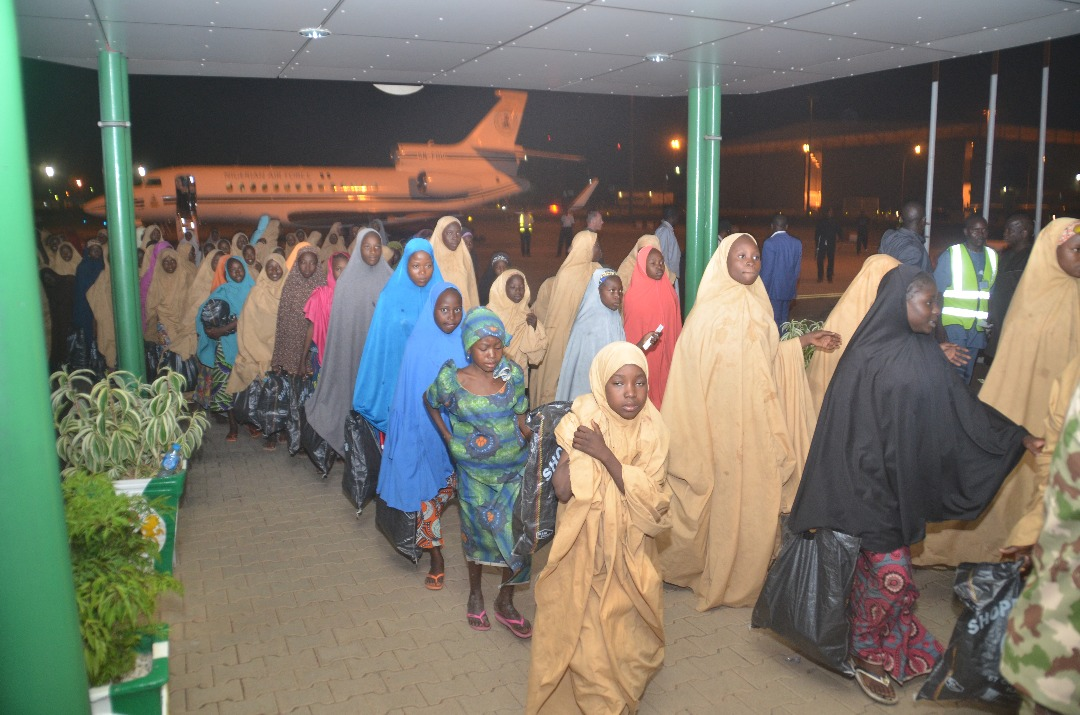 Air force moves Dapchi girls from Abuja, girls back home with parents