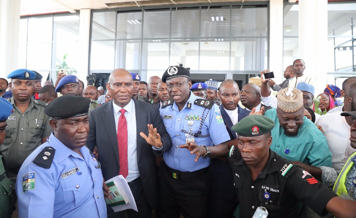 """Update: """"Cow boy"""" Omo-Agege arrested; Police, SSS bosses get 24 hours to find mace"""