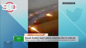 Saudi Arabia World Cup squad land safely after apparent engine fire