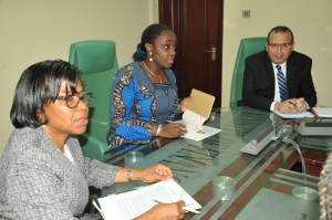 Adeosun makes public appearance; NYSC confirms she applied for exemption from scheme
