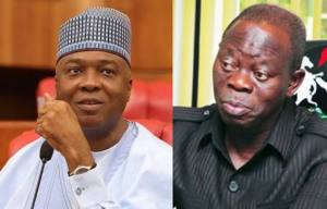 Saraki to Oshiomhole: We will not join pigs to roll in dirt