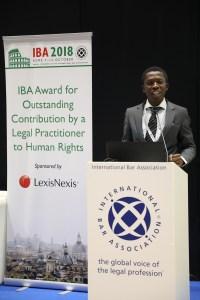 Nigerian lawyer, Adeola Oyinlade, wins International Bar Association's Human Rights Award 2018