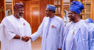 Disquiet As Amosun Leads APM Governorship Candidate To Buhari; Presidency explains