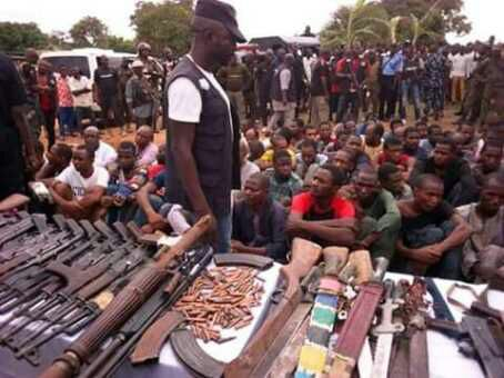 Police Arrest 93 Kidnap Suspects; Recover 1 Rocket Launcher, 35 Ak47 Rifles, 500 Live Ammunition And Other Dangerous Weapons