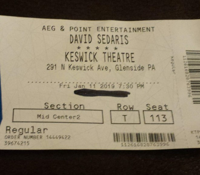 Seeing David Sedaris Live and Does Life Only Count If I Post About It On Social Media?