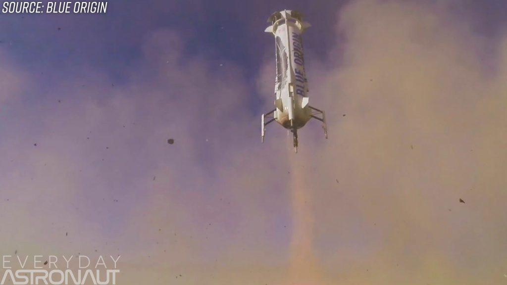 New Shepard landing propulsive reuse landing rocket