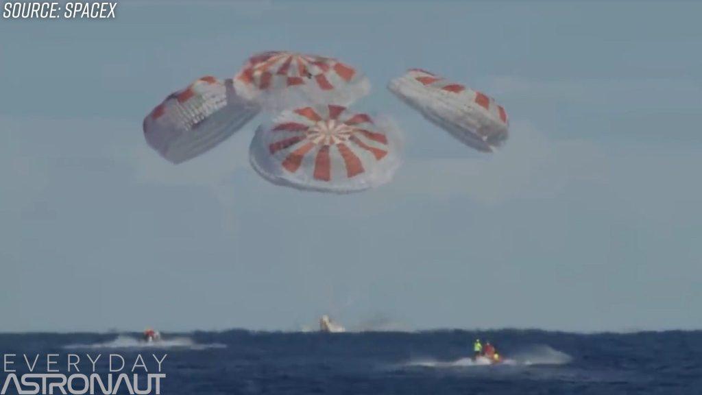 SpaceX DM-1 splashdown recovery