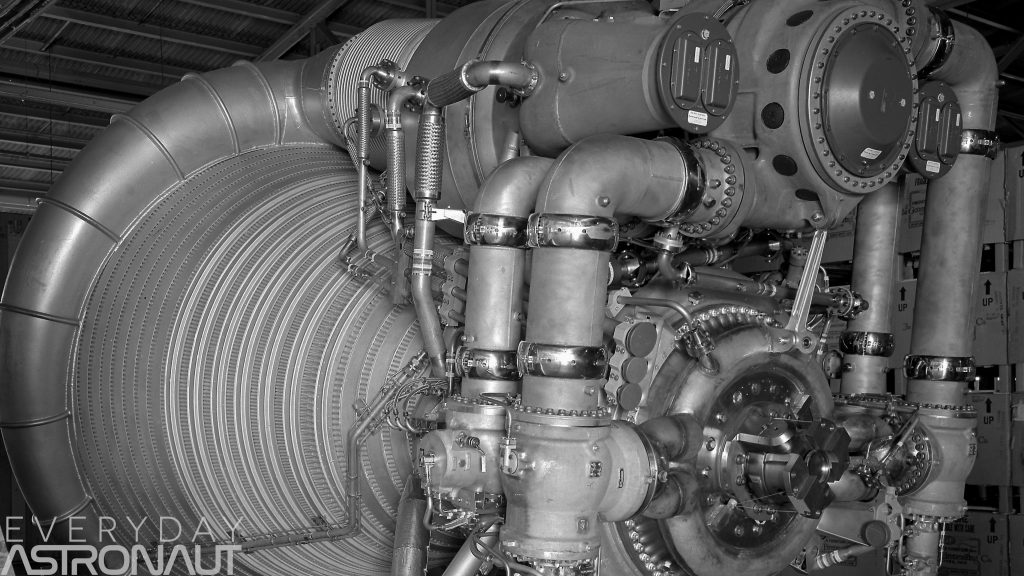 F-1 engine pumps valves pipes