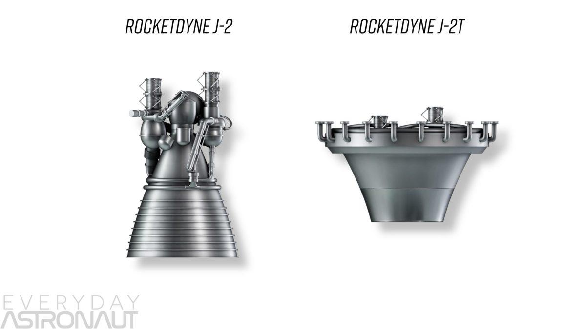 J-2 vs J-2T toroidal aerospike engine