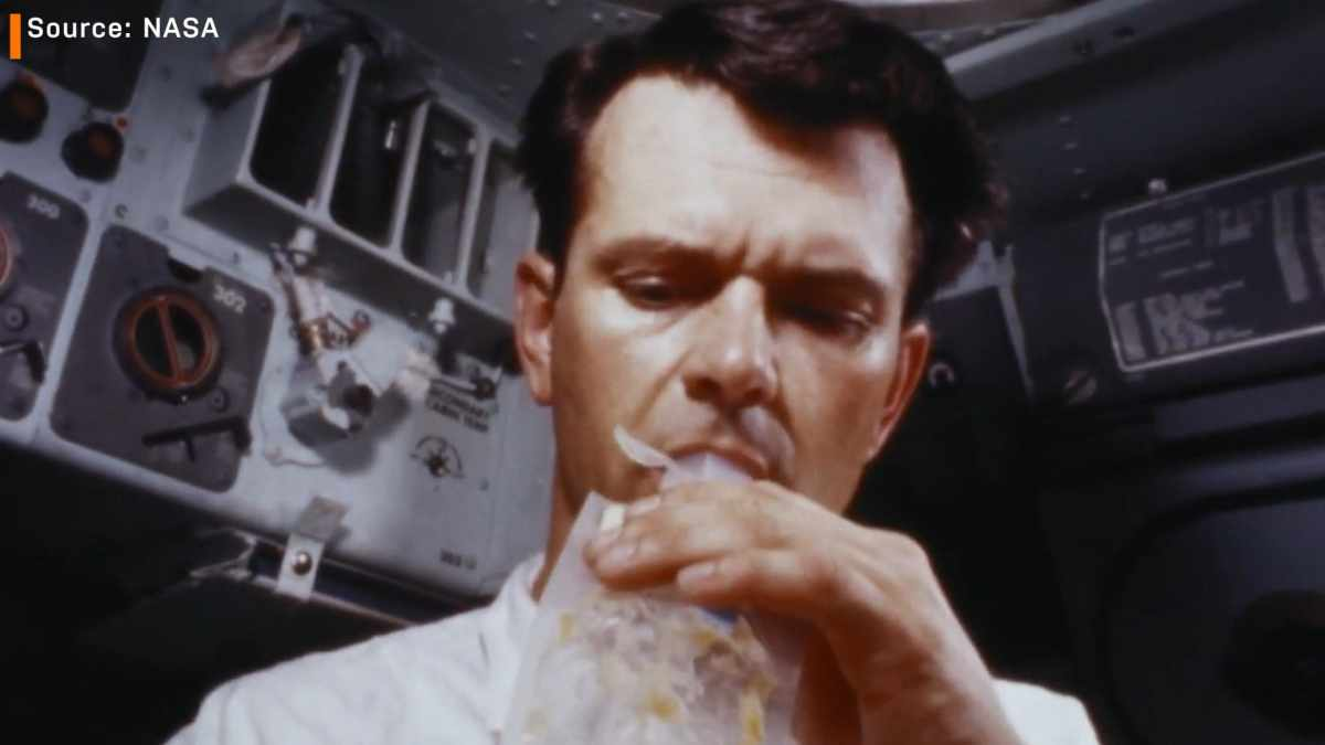 nasa space food apollo