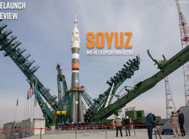Soyuz 2.1a rocket on Pad 31 with the Soyuz MS-16 spacecraft