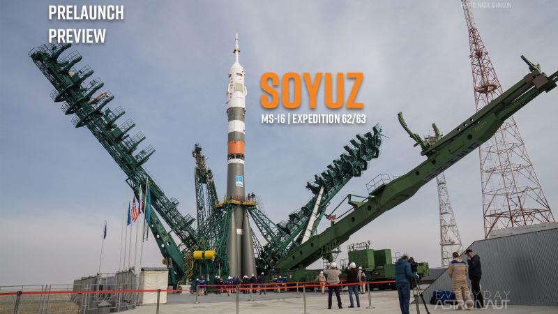 Soyuz 2.1a rocket on Pad 31 with the Soyuz MS-16 spacecraft