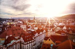 Prague sunset every day a vacation travel
