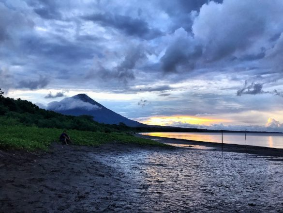 Central America Photography Sunset over Volcan Concepción, Ometepe, Nicaragua