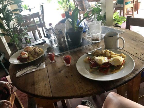 Eggs Benedict, The Cornerhouse Restaurant, Ometepe, Nicaragua