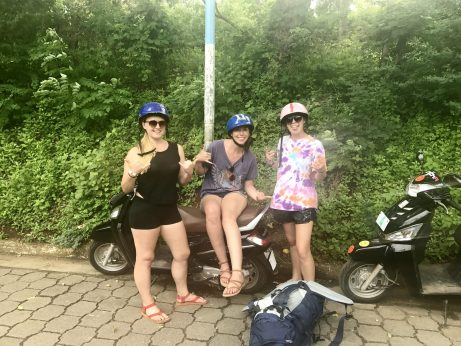 Renting scooters in Ometepe